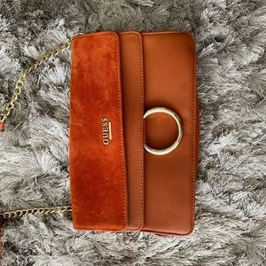 Guess Suede Orange Crossbody NWT